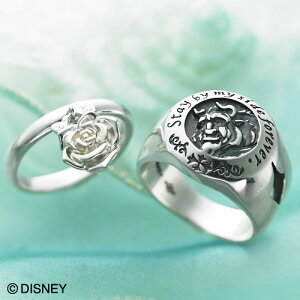 ディズニー ペアリング bijyo-001-002 (WCD) 美女と野獣 Disney シルバー ペアアクセサリー アクセサリー ペア 指輪 ディズニーペア リング 7号 9号 11号 13号 15号 17号 19号 21号 彼氏 彼女 夫婦 恋人 カ