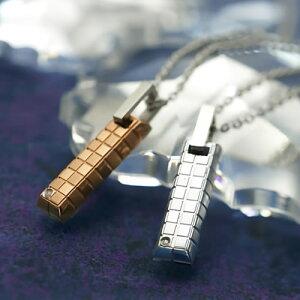 ペアネックレス ステンレス GPSD27STSV-27STRO EVE ブランド ダイヤモンド カップル お揃い プレゼント 彼女 彼氏 サージカルステンレス316L ペアルック 金属アレルギーフリー ペンダント ネックレ