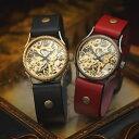 ペアウォッチ ペア 腕時計 WB-055-044 手巻き機械式 vie ヴィー 機械式 ハンドメイド ペア腕時計 ペア 時計 革 レザー…