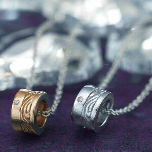 ペアネックレス ステンレス GPSD44SVWH-44ROGD ブランド EVE ダイヤモンド カップル お揃い プレゼント 彼女 彼氏 サージカルステンレス316L ペアルック 金属アレルギーフリー ペンダント ネックレ