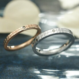 ペアリング ステンレス GRSD18ROGD-19SVWH ブランド EVE ダイヤモンド 刻印 金属アレルギーフリー 結婚指輪 サージカルステンレス316L 7号 9号 11号 13号 15号 17号 19号 21号 ペア カップル ペアルック 誕生日 マリッジリング asrk 送料無料 銀婚式