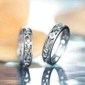 ペアリング ステンレス EVE GRSD38SVWH-38SVWH ブランド ダイヤモンド 7号 9号 11号 13号 15号 17号 19号 21号 アレルギーフリー 金属 サージカルステンレス316L 結婚指輪 カップル お揃い プレゼント マリッジリング 誕生日 asrk 送料無料 銀婚式 指輪