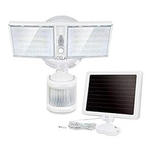 ソーラーライト 屋外 人感センサーライト 100LED 2灯式 1500lm 防水 明るい おしゃれ LED防犯ライト 高輝度 分離型 玄関ライト 壁掛け 省エネ ガーデンライト セキュリティライト 屋外照明 室内