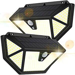 【業界最強照明!5面発光・300°照明範囲・286LED】Maywindセンサーライト ソーラーライト 12時間超長照明 転化率21%UP 光&人感センサー 3つ点灯モード 防犯ライト IP65防水 自動点灯/消灯 2個セ