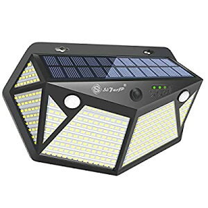 SiFarJP 360LED センサーライト 屋外 2つセンサー 指示ランプ 6面発光 ソーラー ソーラーライト 人感センサーライト 4つ知能モード 人感センサー ガーデンライト ライト 防犯 IP65 防水 玄関/駐車
