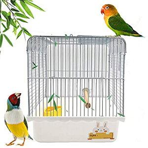 Gifty 文鳥 かご 止まり木 餌入れ 鳥 キャリー ケージ セキセイインコ バードパレス 手のり 移動用 通院 お出かけ ゲージ