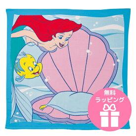 湯上げタオル リトルマーメイド アリエル ディズニー プリンセス シェルスツール ベビー用 湯上りタオル f60 出産祝い 御祝い 入園 卒園 誕生日 ギフト プレゼント 名入れ刺繍 プール 入浴