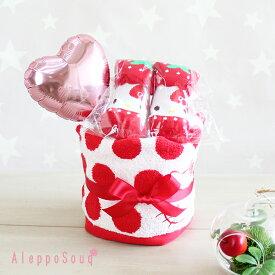 出産祝い いちごキティおむつケーキ 送料無料 即日発送 名入れタオル 刺繍可能 ベビーソックス 靴下 女の子 1歳 誕生日 パンパース メリーズ グーン60-80