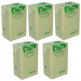カサブ石鹸5個セット 【アレッポの石鹸職人からの贈り物 無添加 アレッポ石鹸】
