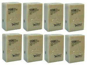 カサブクレイ石鹸8個セット 【アレッポの石鹸職人からの贈り物 無添加 アレッポ石鹸】