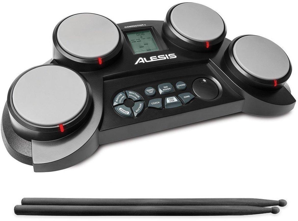 【公式 / 送料無料】Alesis ポータブル電子ドラムキット コーチ機能搭載 ドラムスティック付き CompactKit4