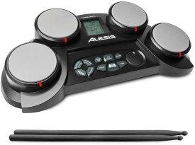 【公式 / 送料無料】Alesis ポータブル電子ドラム キット コーチ機能搭載 ドラムスティック付き 4パッド CompactKit4