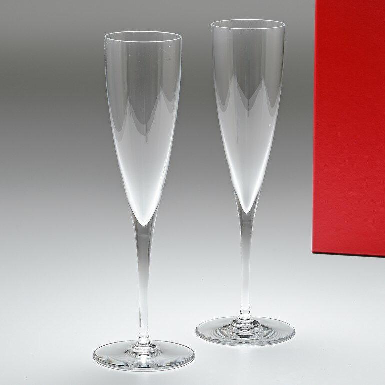 バカラ Baccarat ドンペリニヨン シャンパンフルート ペア 23.4cm 150ml グラス 1845244