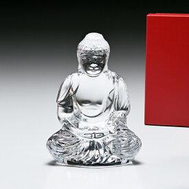 バカラ ブッダ 仏陀 クリア クリスタル オブジェ インテリア 置物 2609200