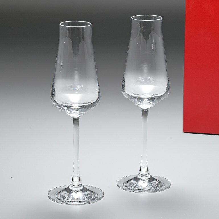 バカラ Baccarat グラス シャトーバカラ シャンパンフルート ペア 24cm 210cc 2611149