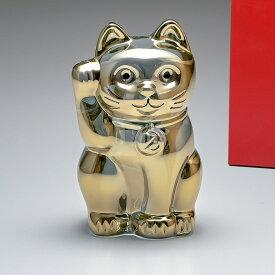 バカラ Baccarat フィギュア オーナメント 招き猫 ゴールド 2612997