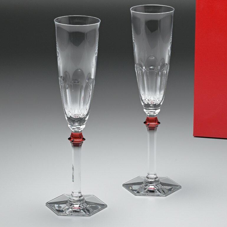 バカラ Baccarat グラス シャンパンフルート ペア アルクール イヴ レッドボタン HARCOURT EVE シャンパングラス 25cm 2807194