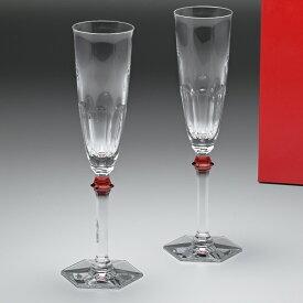 【マラソンタイムセール対象】バカラ Baccarat グラス シャンパンフルート ペア アルクール イヴ レッドボタン HARCOURT EVE シャンパングラス 25cm 2807194