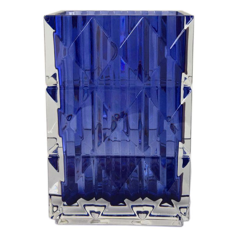 バカラ Baccarat BLUE EYES ブルーアイズ ベース 花瓶 ルクソール LOUXOR ブルー 20cm 2811094 【クリスマス Xmas ギフト】