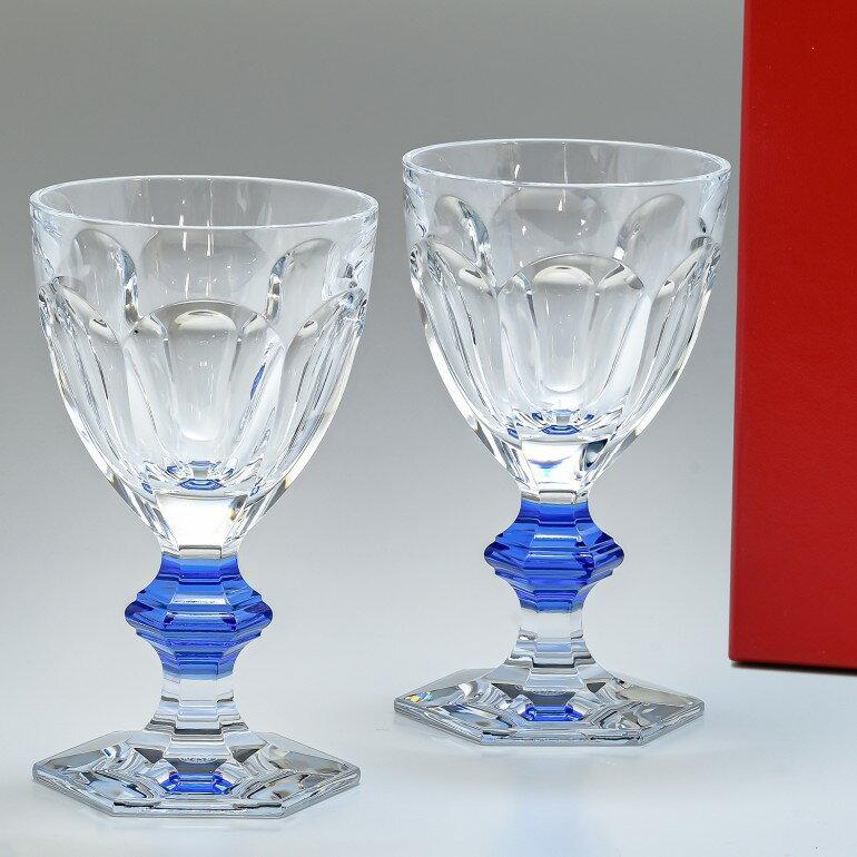 バカラ Baccarat グラス ペア アルクール ブルーボタン ワイングラス HARCOURT 2811102