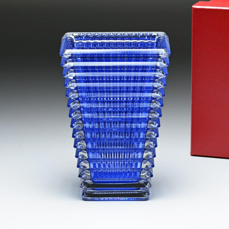 バカラ Baccarat BLUE EYES ブルーアイズ アイ EYE スクエア ベース 花瓶 ブルー S 20cm 2811104 【クリスマス Xmas ギフト】