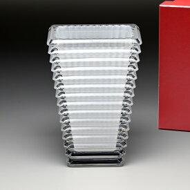 バカラ Baccarat 花瓶 ベース アイ EYE スクエア ホワイト(ラッカージュ仕上げ) S 20cm 2812803