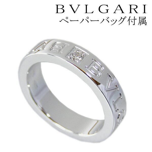 bulgari ring bvlgari ring k18wg double logo ring diamond set line an853348 004 ct diamond u0026 18 k white gold