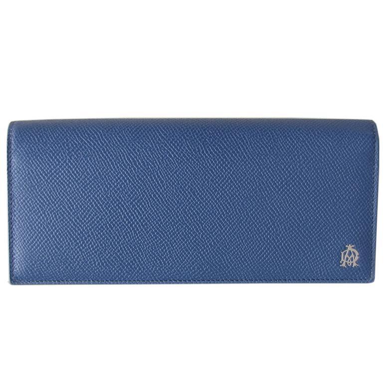 ダンヒル dunhill 長財布 メンズ ボードン BOURDON コートウォレット ブルー×グレー L2Y210D