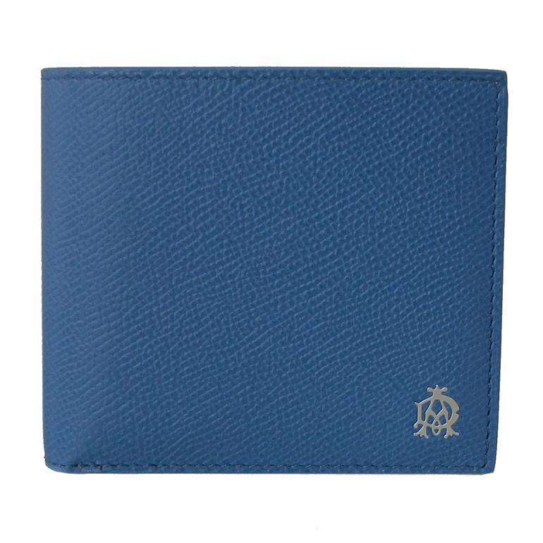 【最大2000円クーポン発行中 10/23(月)9:59まで】ダンヒル dunhill 財布 二つ折り財布 メンズ ボードン BOURDON ブルー×グレー L2Y232D