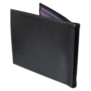 エッティンガーETTINGER財布メンズ札ばさみ二つ折り札入れマネークリップメンズロイヤルコレクションST787AJRBLACKブラック×パープル0601楽天カード分割