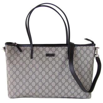 Gucci by GUCCI tote bag 2-way GG Supreme canvas dark brown 353437 KGDHG 9643