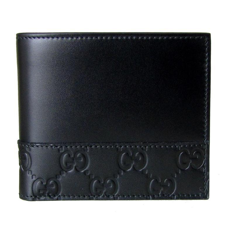 【ポイント最大30倍】グッチ GUCCI 二つ折り財布 MISTRAL ミストラル グッチシマ ブラック 365487 CWD2N 1000