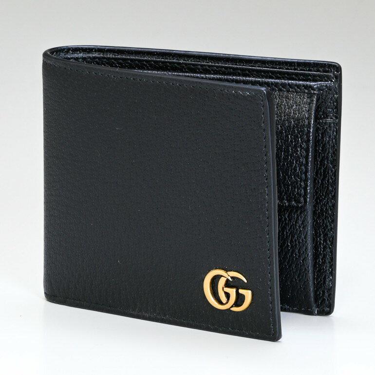 グッチ GUCCI メンズ 二つ折り財布 DOLLAR ダラーカーフ ブラック 428725 DJ20T 1000