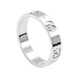 新品 グッチ アイコン リング GUCCI 指輪 アイコンリング GGリング ホワイトゴールド YBC073230 09850 9000