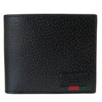 b6926154bfd7 PR グッチ 二つ折り財布 メンズ 札入れ 小銭入れなし WEB カーフ.