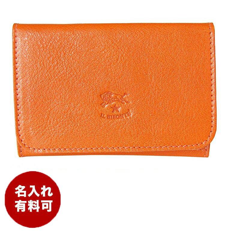 イルビゾンテ IL BISONTE カードケース C0470 P 166 名刺入れ ORANGE オレンジ