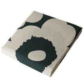 マリメッコ デュベカバー Unikko ウニッコ 掛け布団カバー シングル 150×210cm コットン(アイボリー)×ダークグリーン 070870 681 母の日 プレゼント 実用的