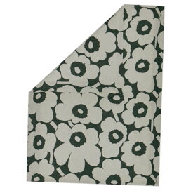 マリメッコ デュベカバー Unikko ウニッコ 掛け布団カバー シングル 150×210cm コットン(アイボリー)×ダークグリーン 070870 681