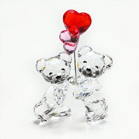 スワロフスキー SWAROVSKI クリスタルフィギュア クリスベア フィギュリン ラブロッツ Kris Heart Balloons 置物 5185778