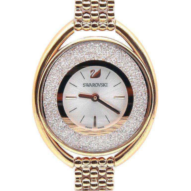 【ポイント最大30倍】スワロフスキー SWAROVSKI 腕時計 レディース Crystalline Oval Rose Gold Tone ローズゴールド ブレスレットウォッチ 5200341