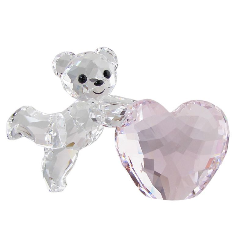 【4/14 20時〜マラソン期間10%OFFクーポン対象】スワロフスキー SWAROVSKI フィギュリン Kris ベア Pink Heart フィギュア オブジェ 置物 5265323