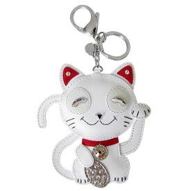 スワロフスキー SWAROVSKI キーリング バッグチャーム Cat 猫 招き猫 5271853