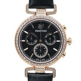 スワロフスキー 腕時計 レディース Era Journey ブラック ローズゴールド クロノグラフ 時計 ウォッチ 5295320