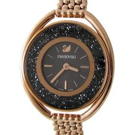 スワロフスキー 腕時計 Crystalline Oval ウォッチ ピンクゴールド ブラック 5480507
