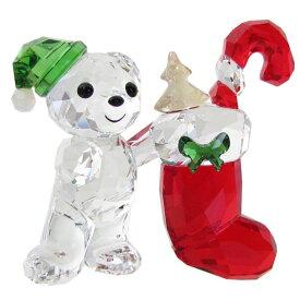 スワロフスキー SWAROVSKI クリスタルフィギュア KRISベア CHRISTMAS 2020年度限定生産品 クリスマス オブジェ 置物 5506812