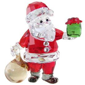 スワロフスキー SWAROVSKI クリスタルフィギュア サンタクロースとギフトバッグ クリスマス オブジェ 置物 5539365
