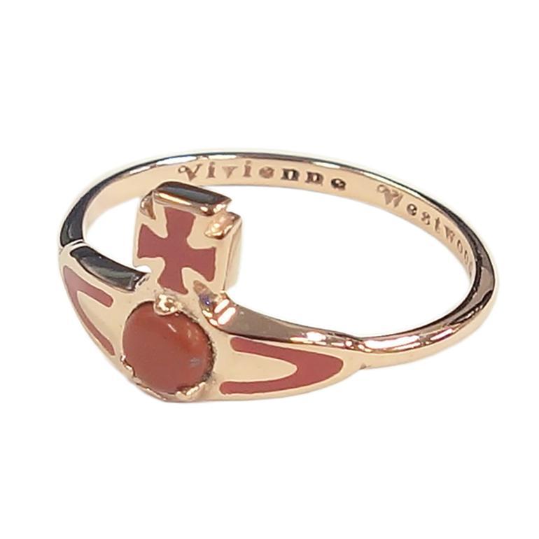 ヴィヴィアンウエストウッド リング 指輪 Vivienne Westwood ベッツィー RJ ピンクゴールド×レッド