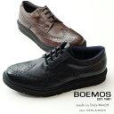 【40%OFF SALE】BOEMOS ( ボエモス ) メンズ ハイブリッドシューズ ウィングチップ シューズ 本革 黒 ブラック 茶 ブラウン エクスト…