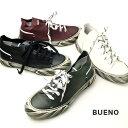 bueno ブエノ メンズ レザースニーカー レースアップ 本革 モード(bueno20mr8903)インポートシューズ