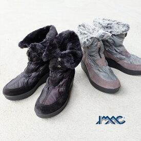 【SALE】IMAC イマック / レディース ブーツ ブラック 防寒 防水 スノーブーツ ウェッジ 厚底 ムートン グレー イタリア製 (imac607498) インポートシューズ